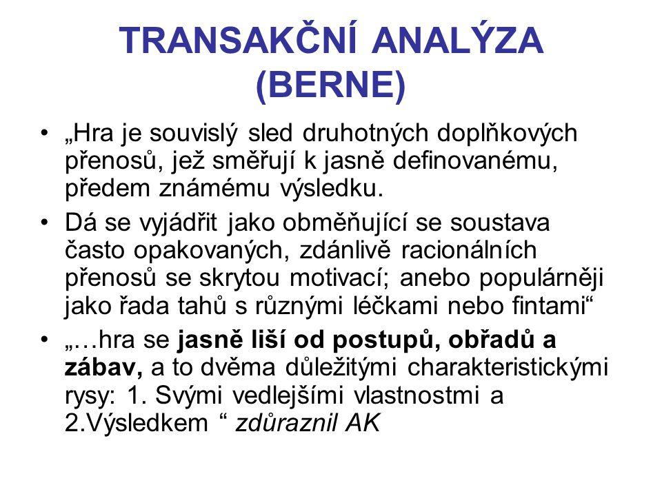 TRANSAKČNÍ ANALÝZA (BERNE)