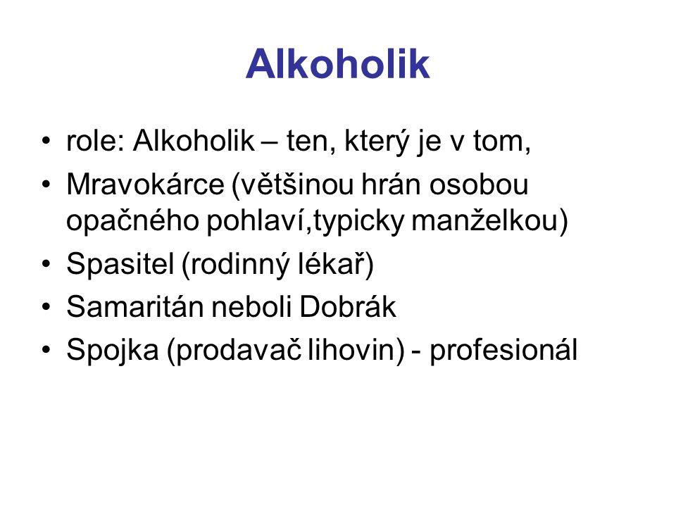 Alkoholik role: Alkoholik – ten, který je v tom,