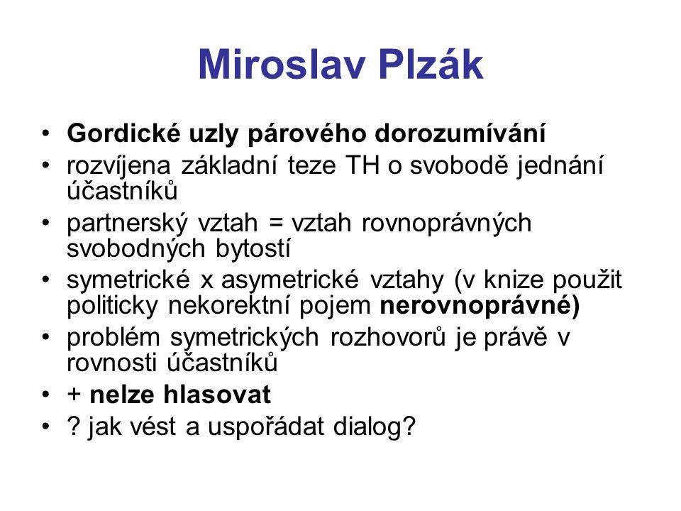 Miroslav Plzák Gordické uzly párového dorozumívání