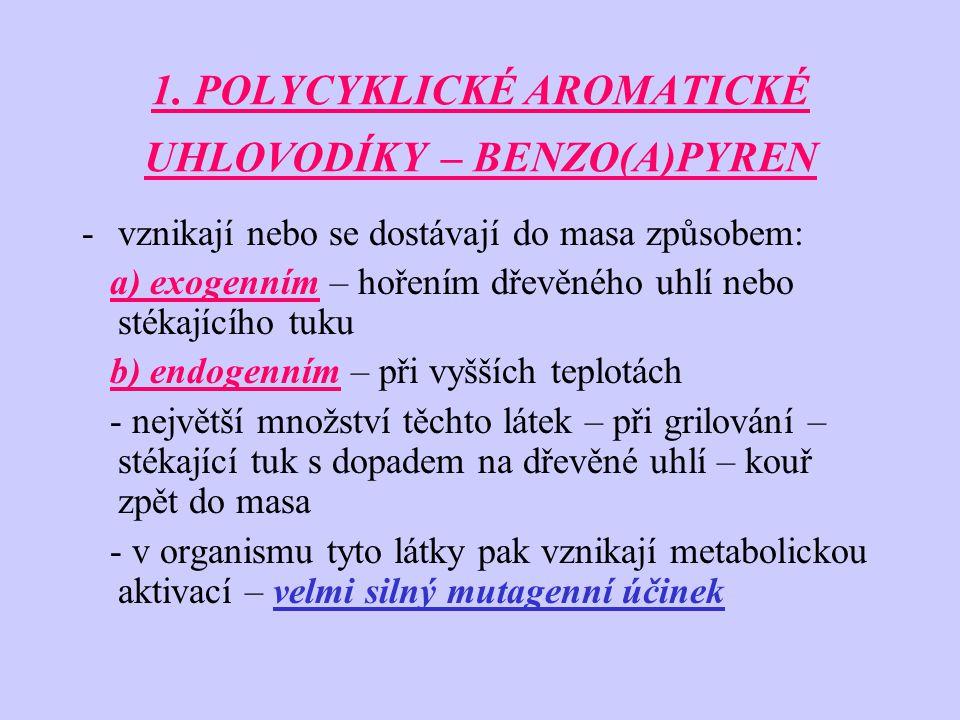 1. POLYCYKLICKÉ AROMATICKÉ UHLOVODÍKY – BENZO(A)PYREN