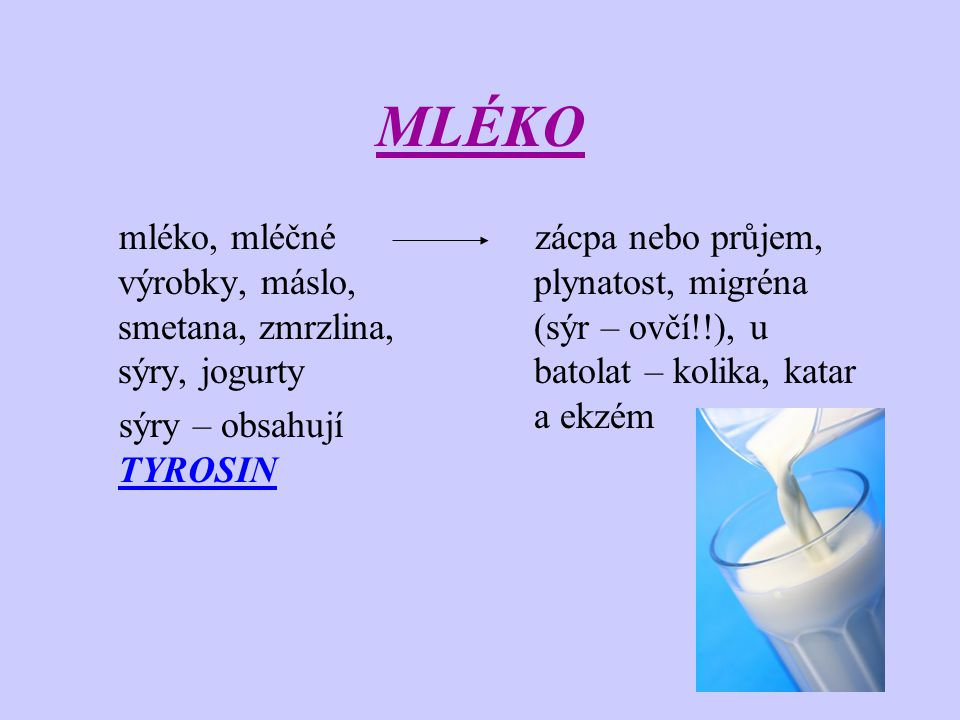MLÉKO mléko, mléčné výrobky, máslo, smetana, zmrzlina, sýry, jogurty