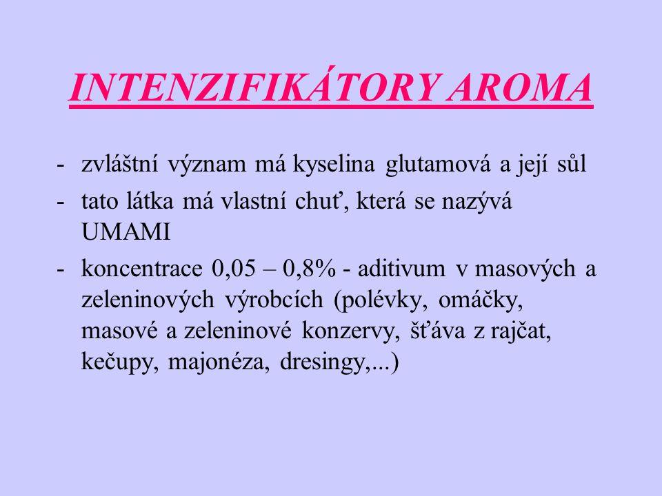 INTENZIFIKÁTORY AROMA