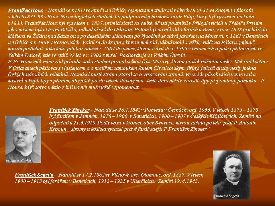 František Hons – Narodil se r
