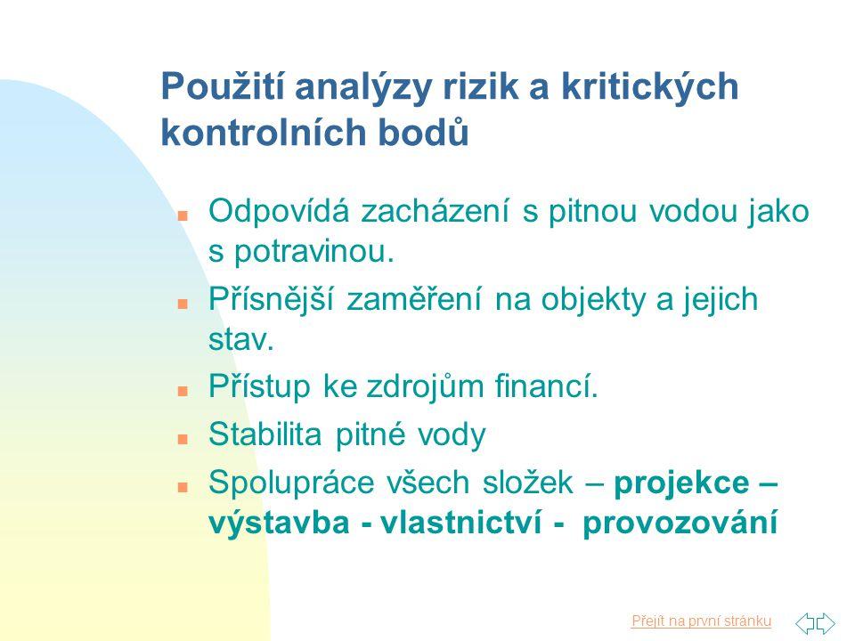Použití analýzy rizik a kritických kontrolních bodů
