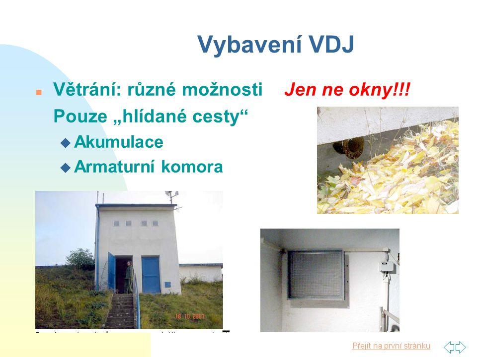 Vybavení VDJ Větrání: různé možnosti Jen ne okny!!!