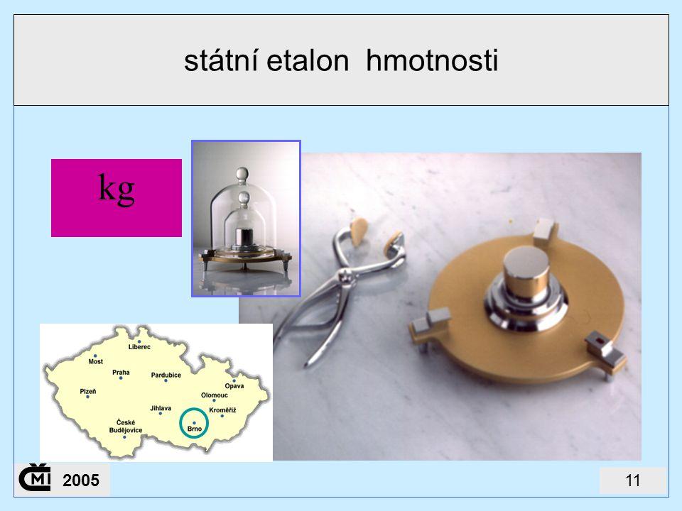 státní etalon hmotnosti