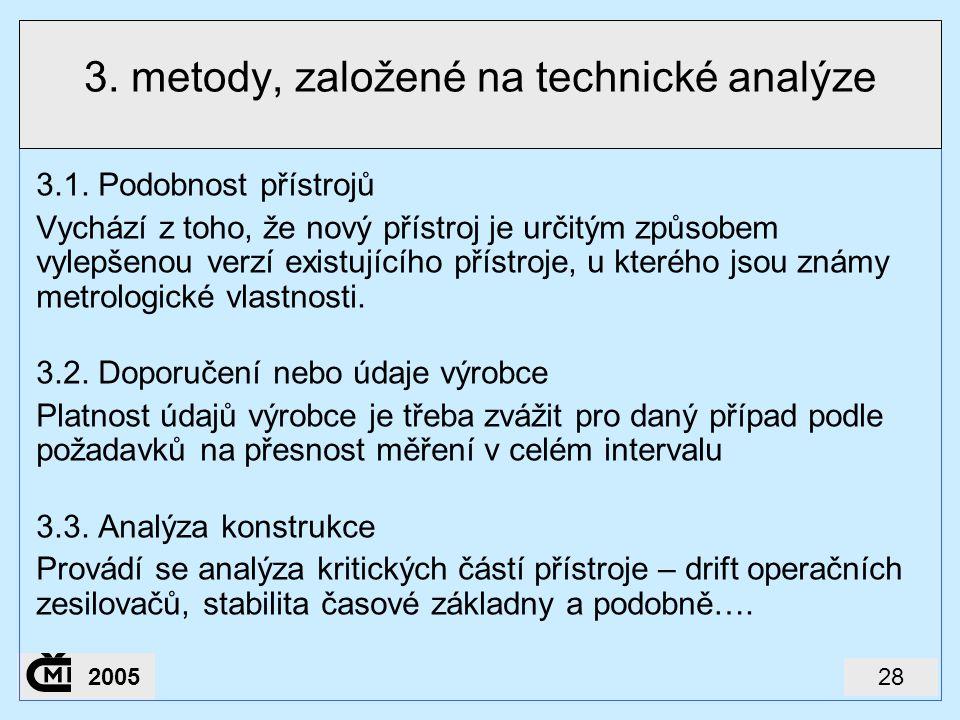 3. metody, založené na technické analýze