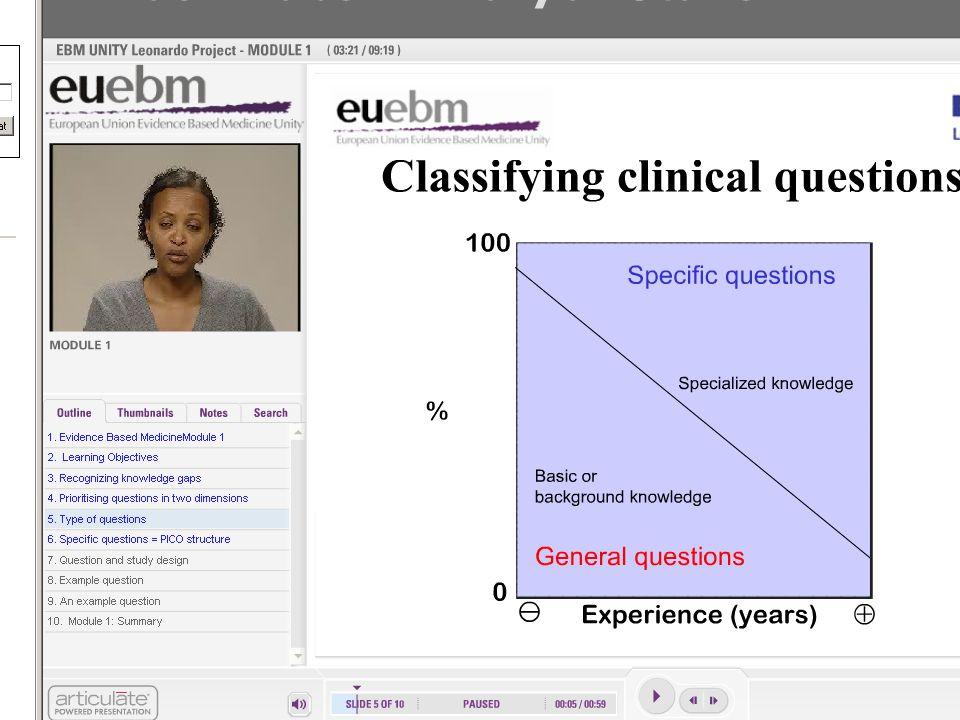 Klasifikace klinických otázek