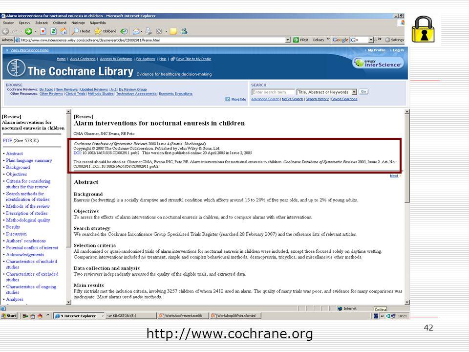 http://www.cochrane.org