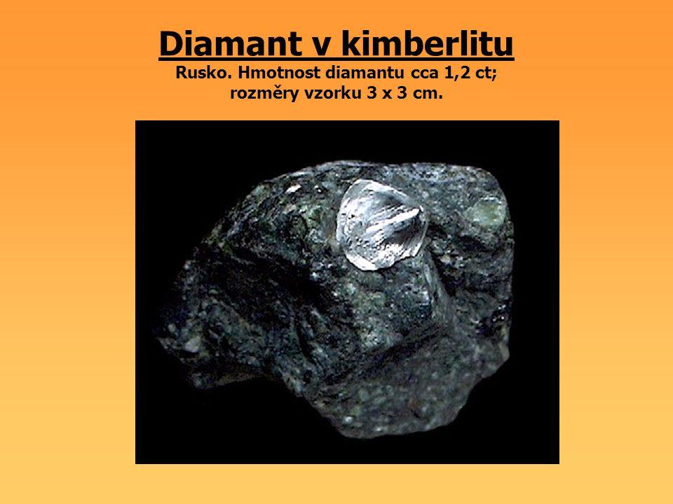 Diamant v kimberlitu Rusko