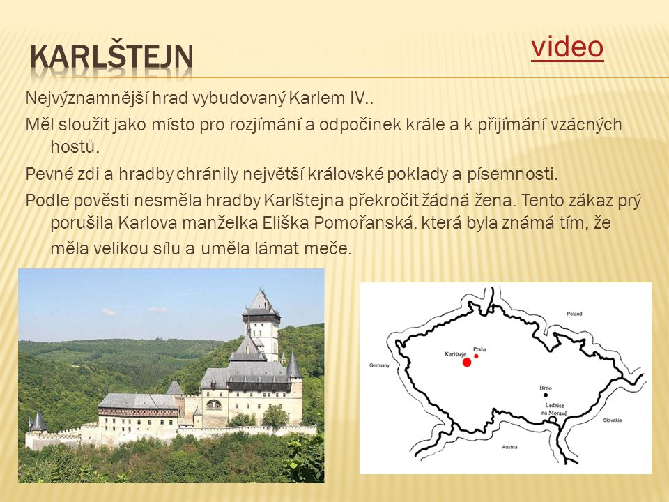karlštejn video.