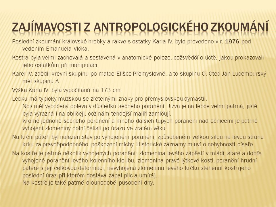 Zajímavosti z antropologického zkoumání