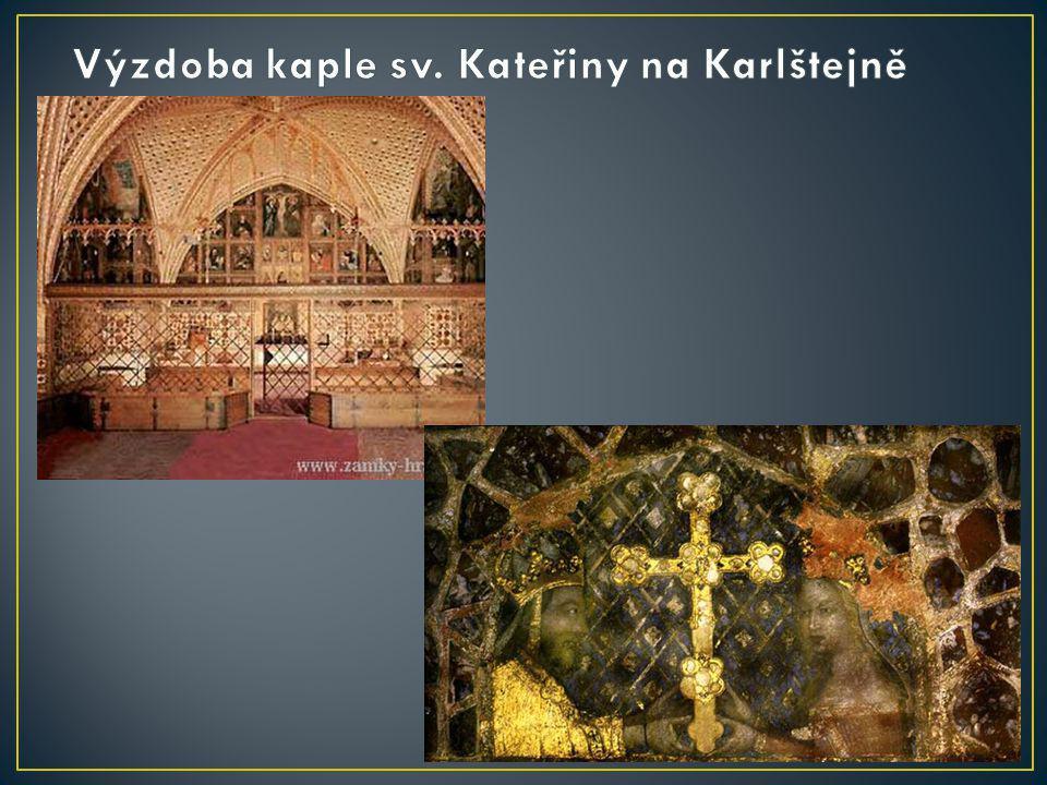 Výzdoba kaple sv. Kateřiny na Karlštejně