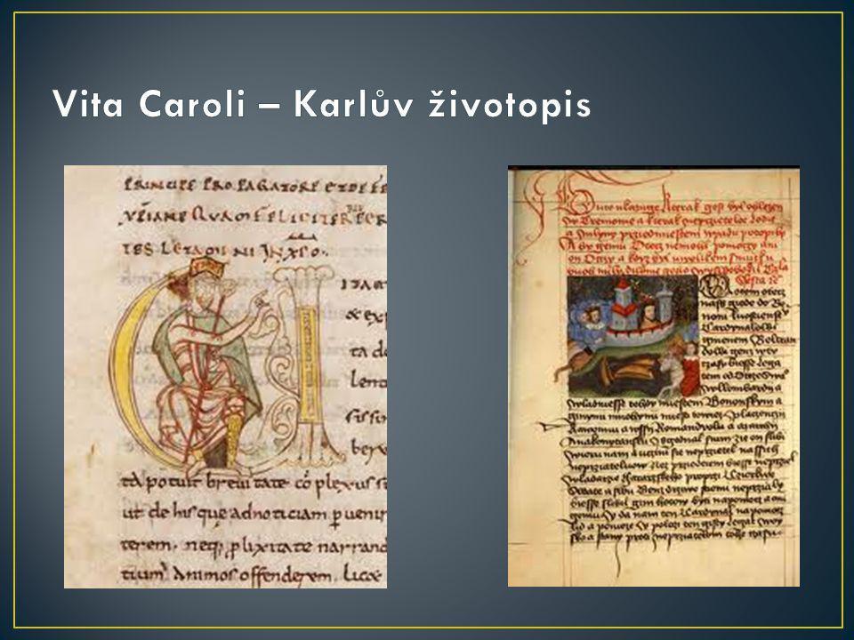 Vita Caroli – Karlův životopis