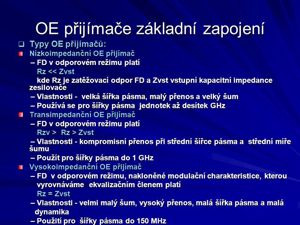 OE přijímače základní zapojení