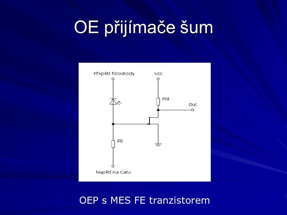 OE přijímače šum OEP s MES FE tranzistorem