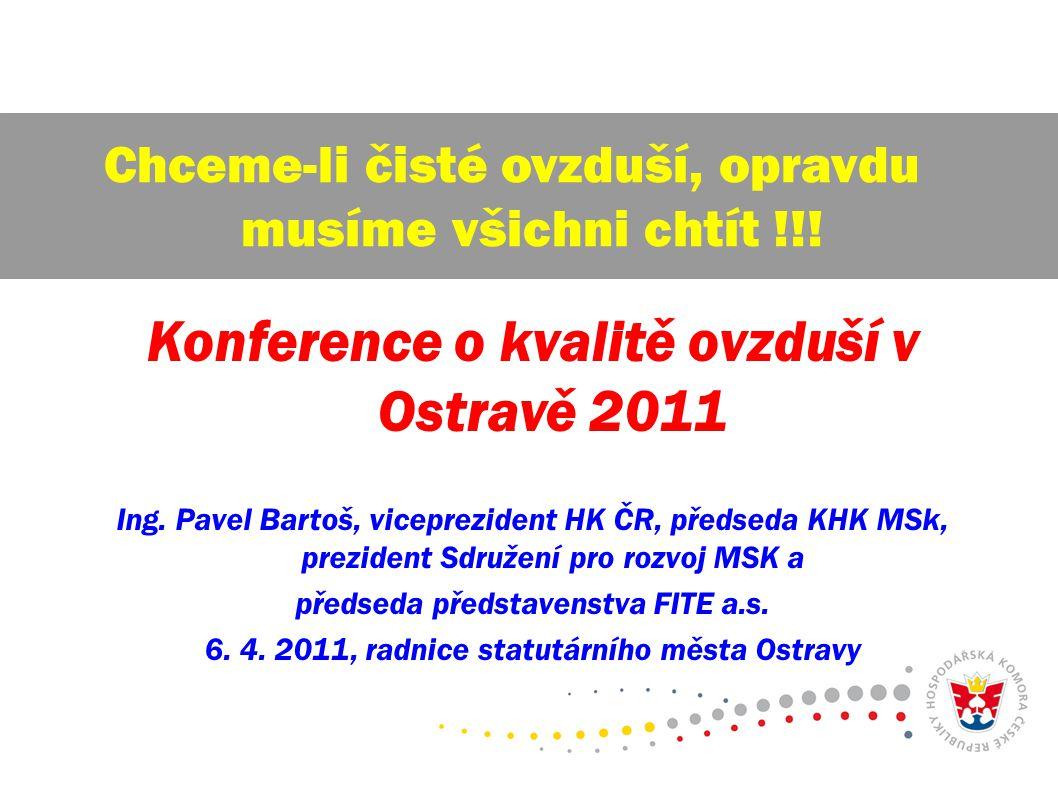 Konference o kvalitě ovzduší v Ostravě 2011