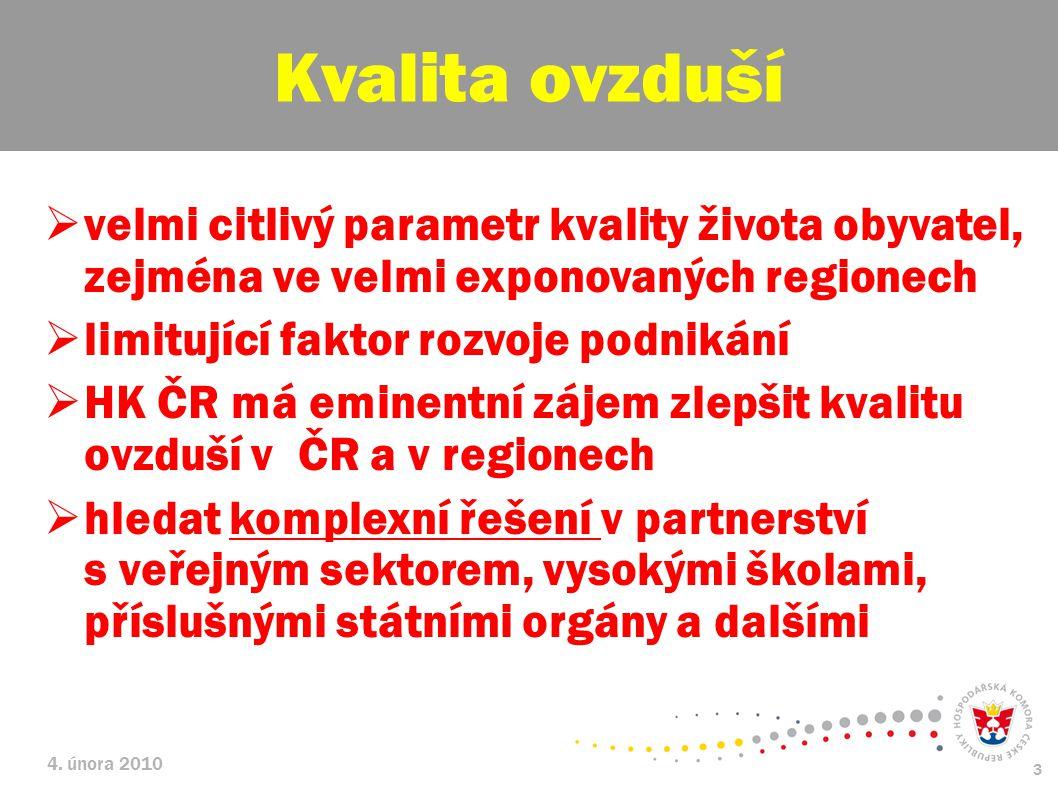 Kvalita ovzduší velmi citlivý parametr kvality života obyvatel, zejména ve velmi exponovaných regionech.