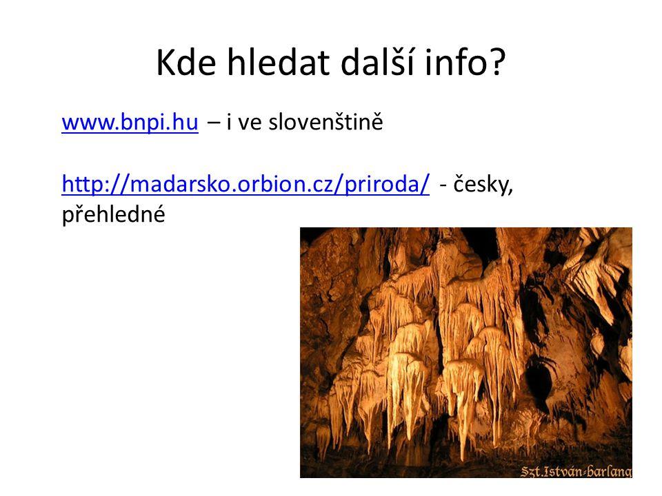 Kde hledat další info www.bnpi.hu – i ve slovenštině