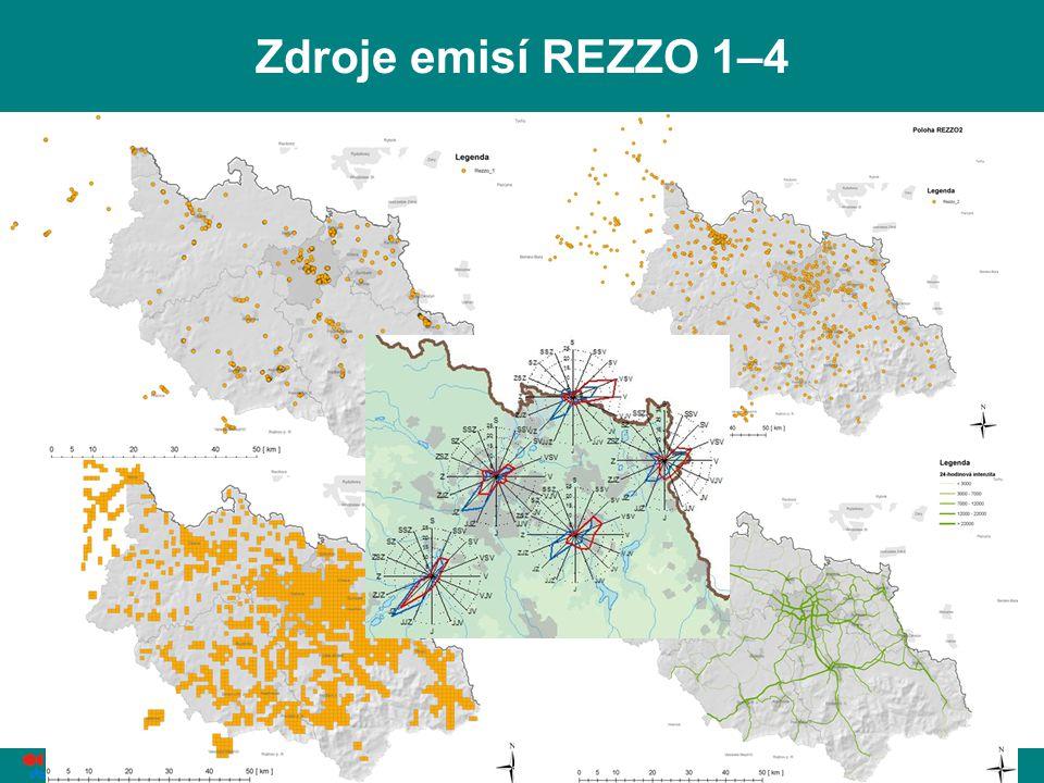 Zdroje emisí REZZO 1–4