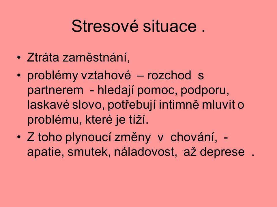 Stresové situace . Ztráta zaměstnání,