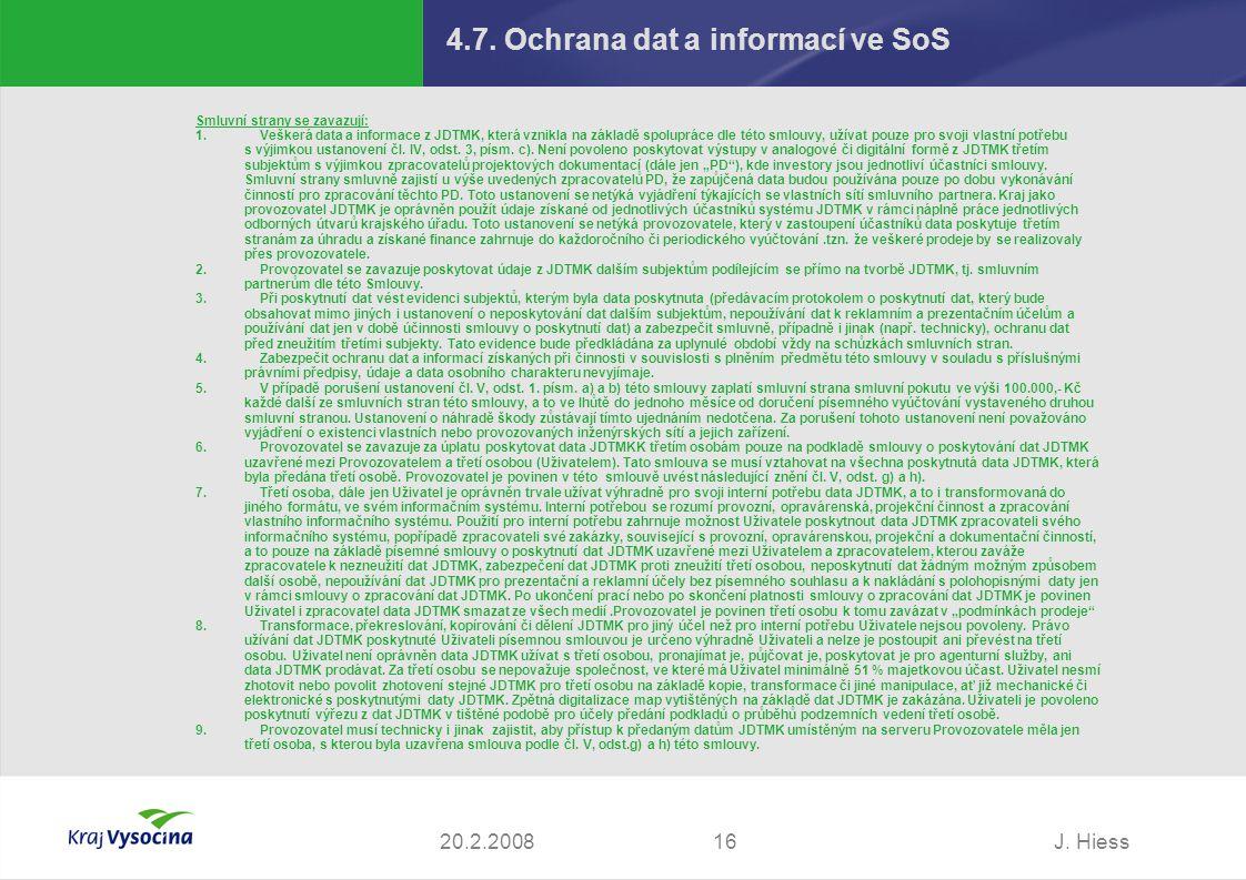 4.7. Ochrana dat a informací ve SoS