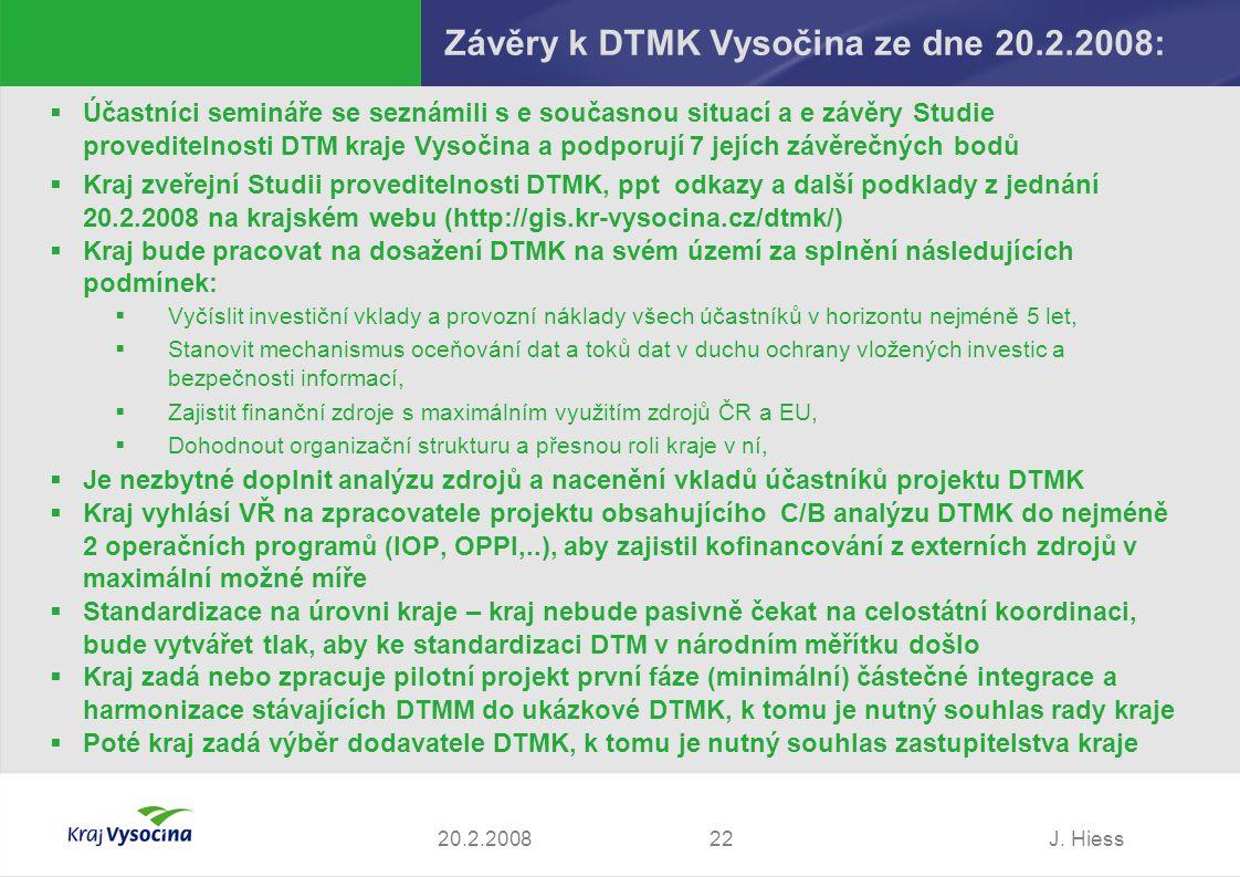 Závěry k DTMK Vysočina ze dne 20.2.2008: