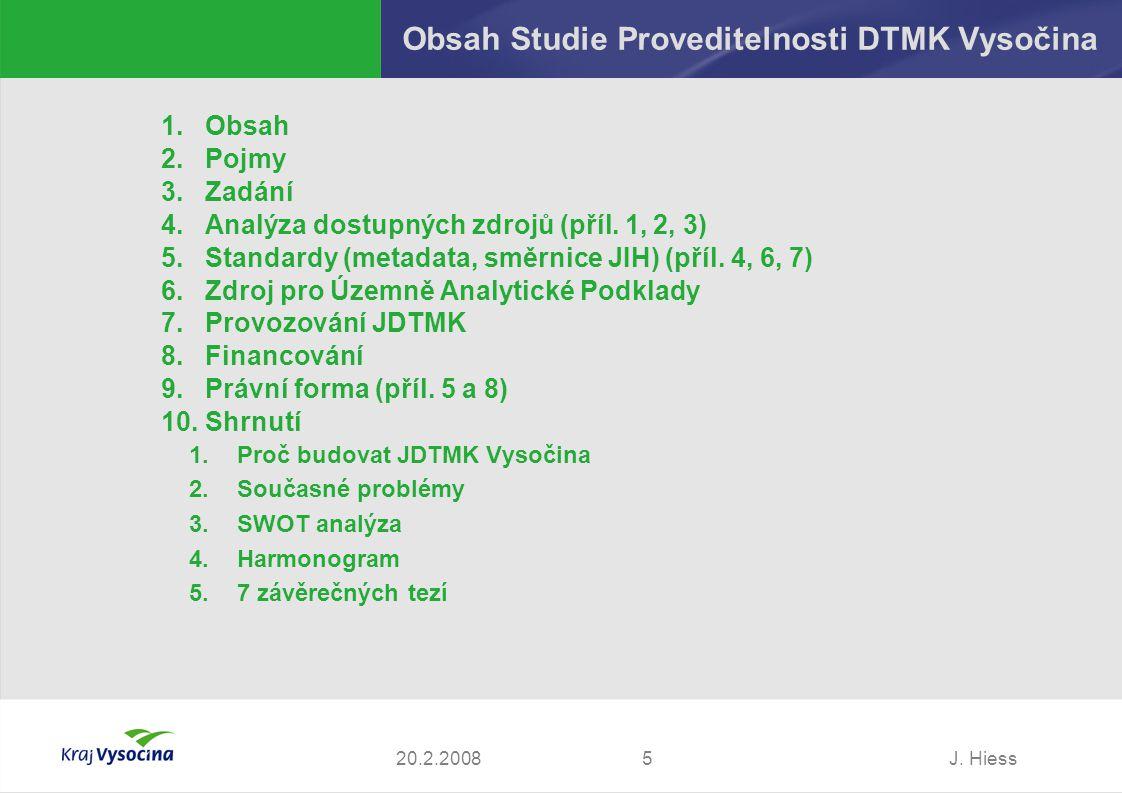 Obsah Studie Proveditelnosti DTMK Vysočina