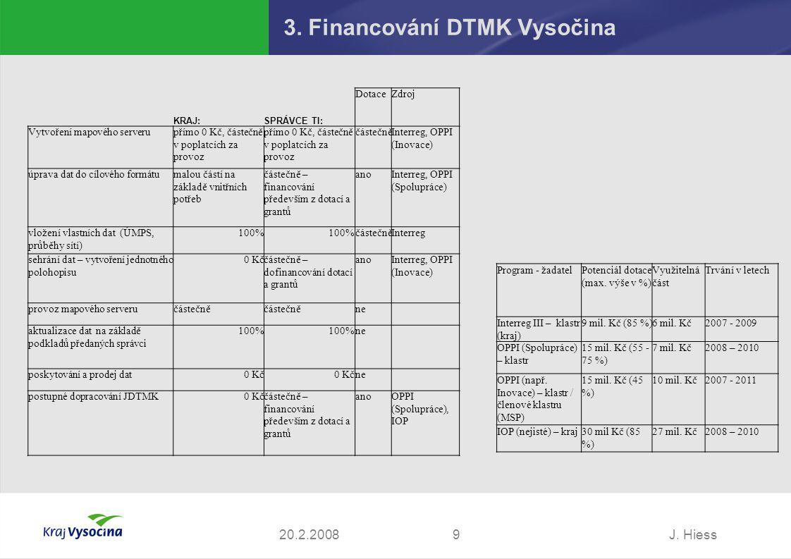 3. Financování DTMK Vysočina