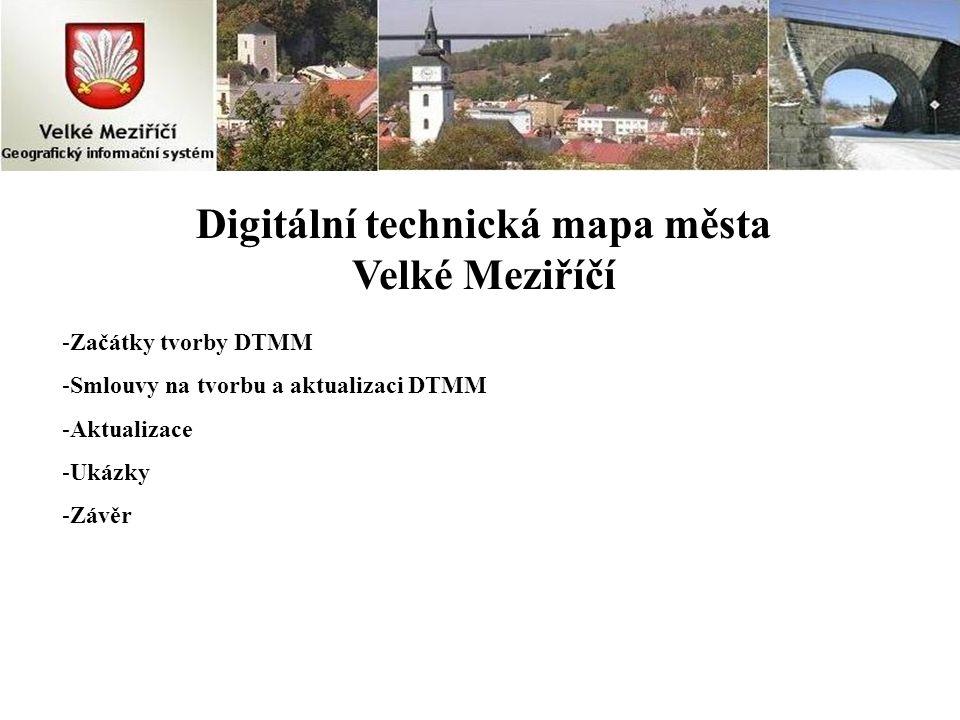 Digitální technická mapa města Velké Meziříčí