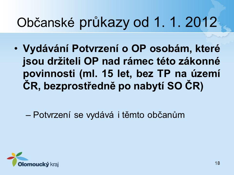Občanské průkazy od 1. 1. 2012