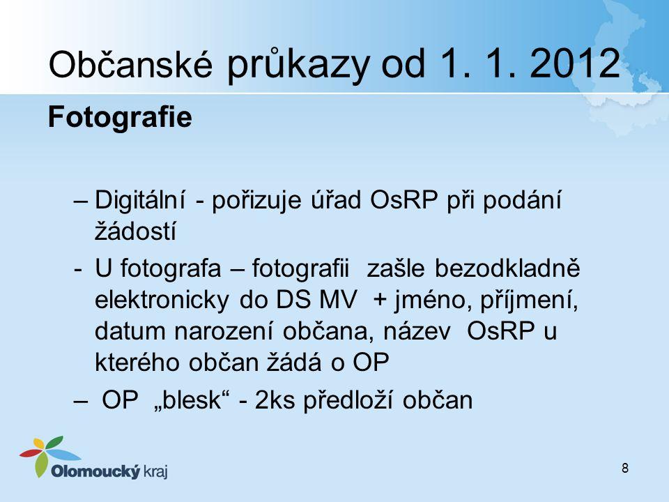 Občanské průkazy od 1. 1. 2012 Fotografie