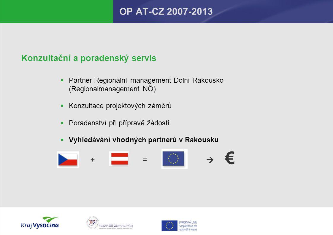 € OP AT-CZ 2007-2013 Konzultační a poradenský servis + = 