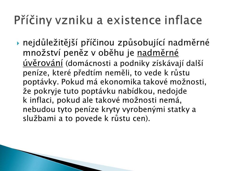 Příčiny vzniku a existence inflace
