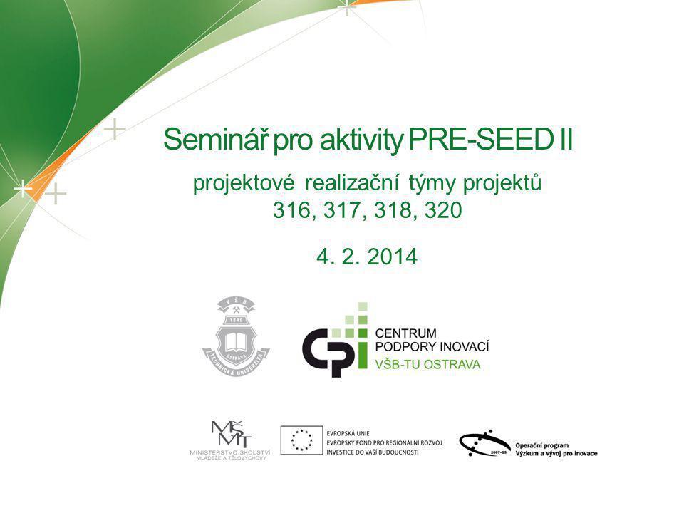 Seminář pro aktivity PRE-SEED II
