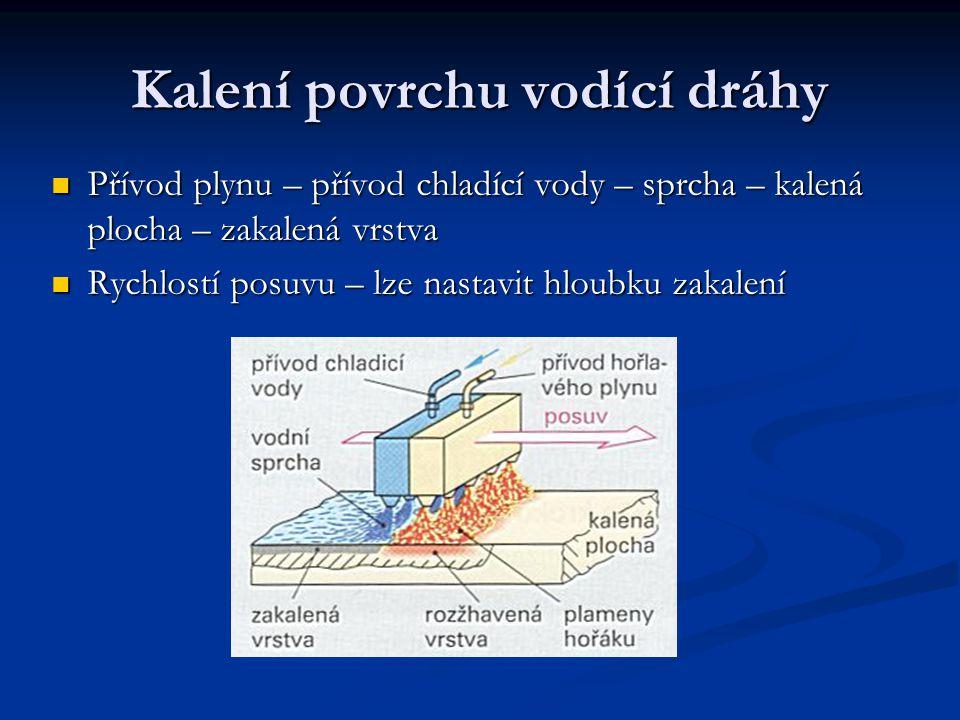 Kalení povrchu vodící dráhy