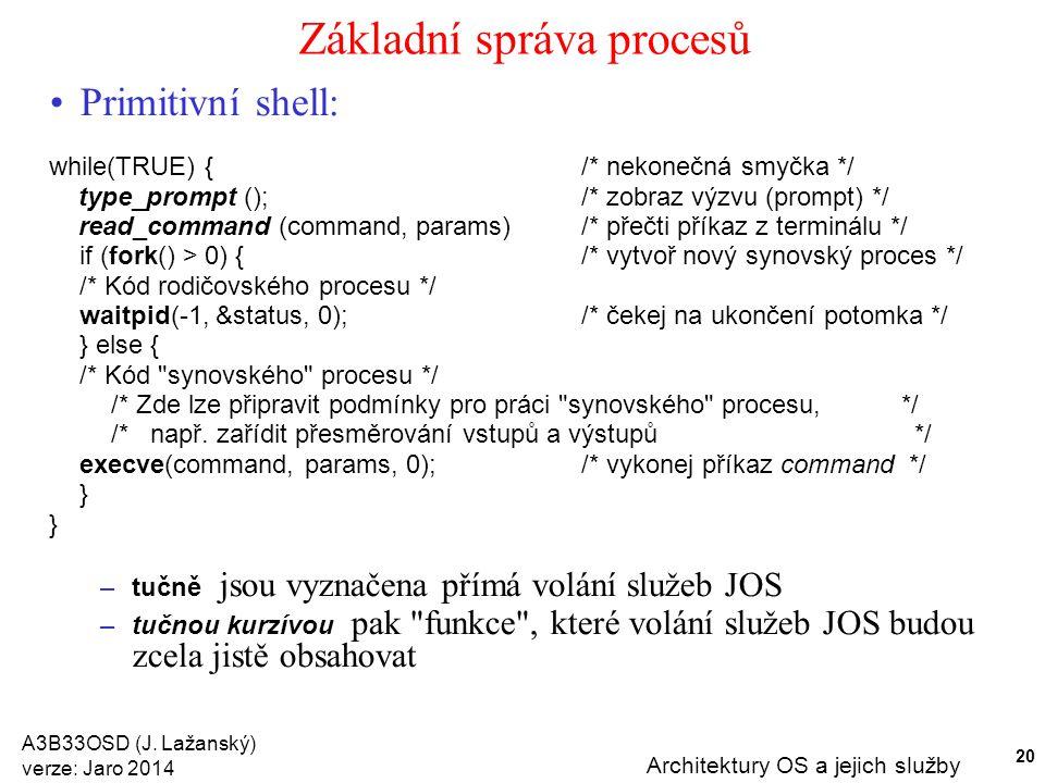 Základní správa procesů
