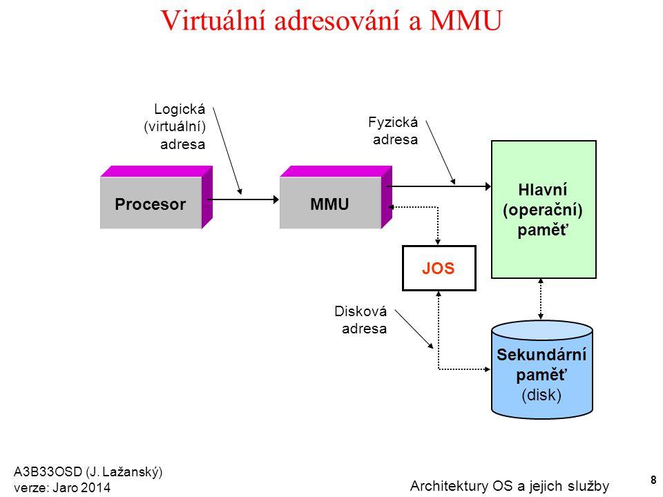 Virtuální adresování a MMU