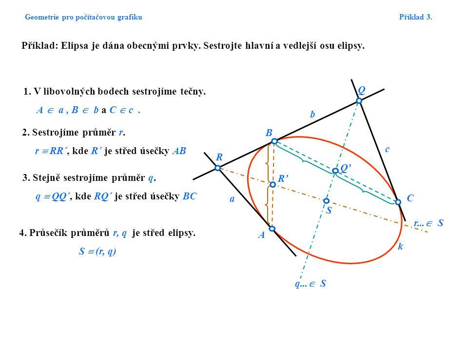 Geometrie pro počítačovou grafiku Příklad 3.