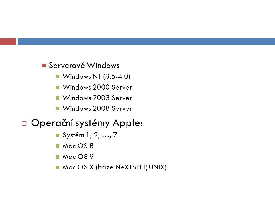 Operační systémy Apple: