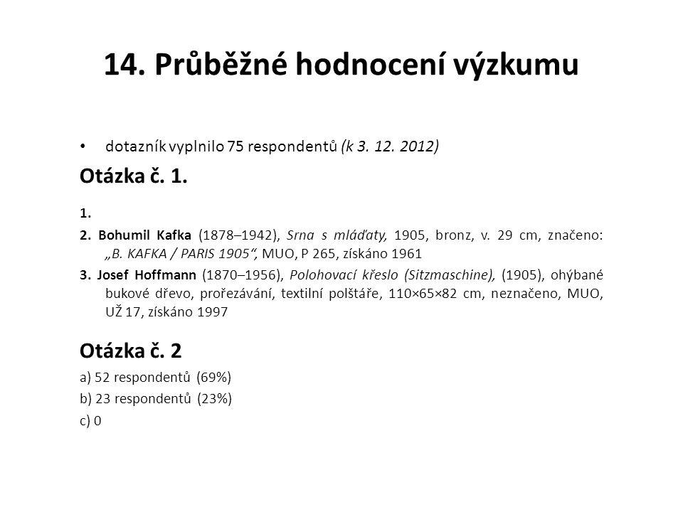 14. Průběžné hodnocení výzkumu