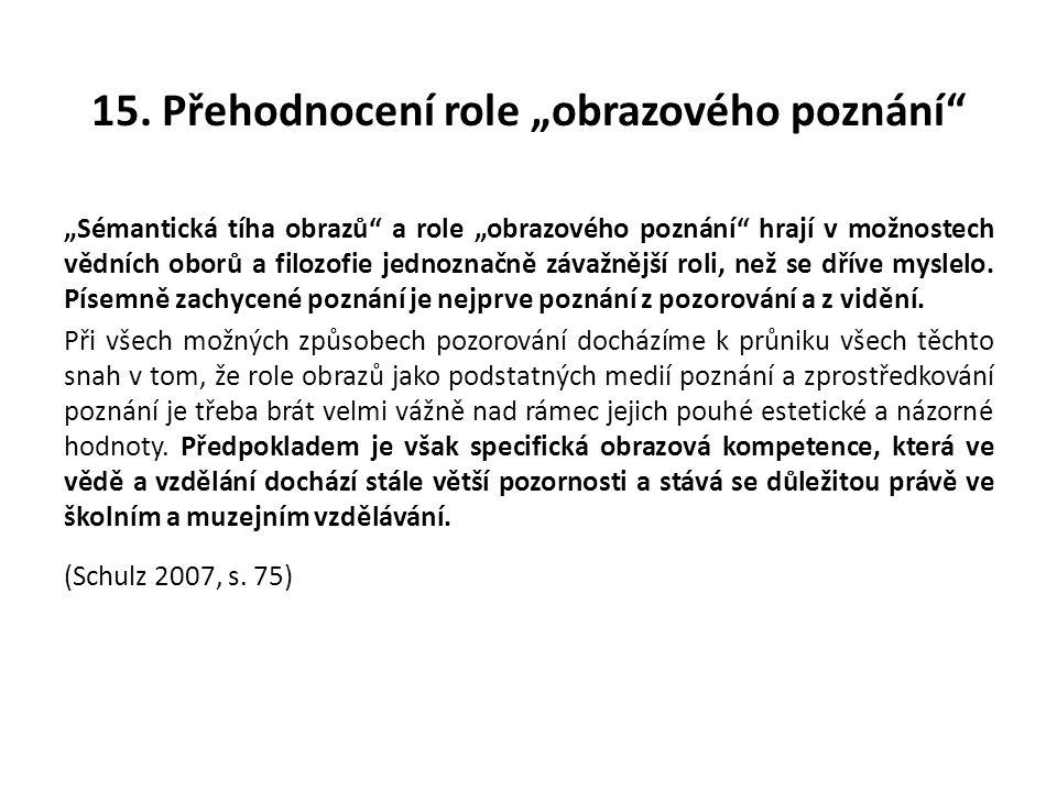 """15. Přehodnocení role """"obrazového poznání"""