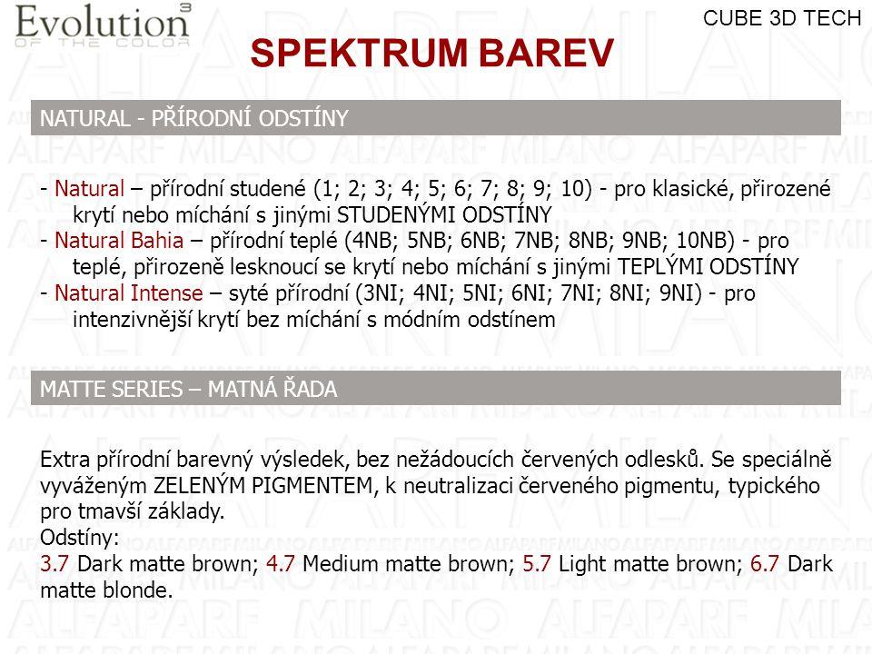SPEKTRUM BAREV CUBE 3D TECH NATURAL - PŘÍRODNÍ ODSTÍNY