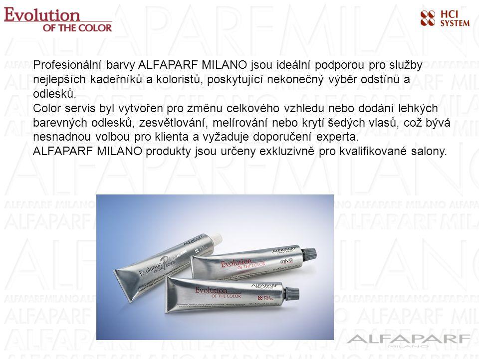 Profesionální barvy ALFAPARF MILANO jsou ideální podporou pro služby nejlepších kadeřníků a koloristů, poskytující nekonečný výběr odstínů a odlesků.
