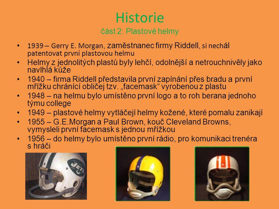 Historie část 2: Plastové helmy