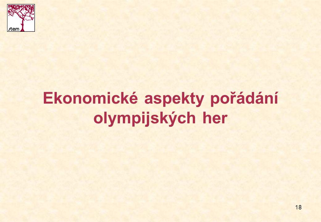Ekonomické aspekty pořádání olympijských her
