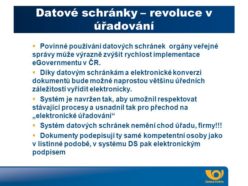 Datové schránky – revoluce v úřadování