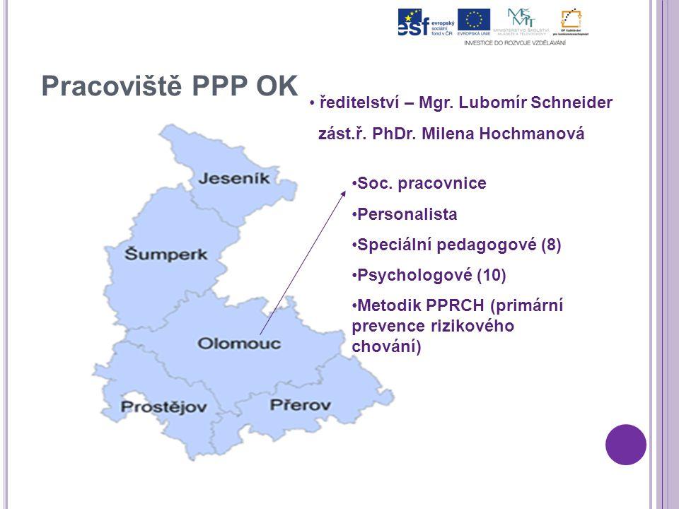 Pracoviště PPP OK ředitelství – Mgr. Lubomír Schneider