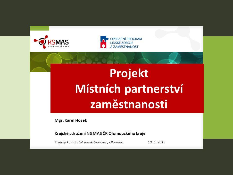 Projekt Místních partnerství zaměstnanosti