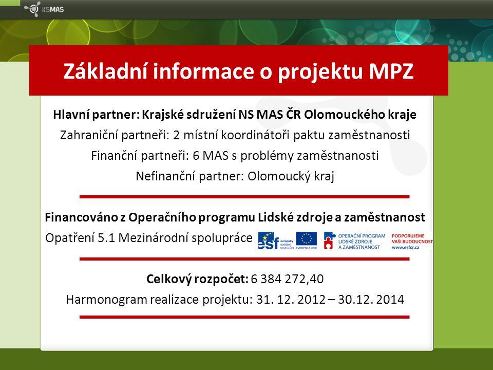 Základní informace o projektu MPZ